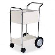 Steel Mail Cart, 75-Folder Capacity, 20w X 25-1/2d X 39h, Dove Gray