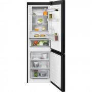 Combina frigorifica Electrolux LNT7ME32M1, No Frost, 324 L, H 186 cm, Control electronic, Racire rapida, Inghetare rapida, Clasa energetica A++, Sticla neagra