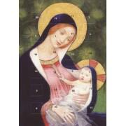 adventskalender kaart met envelop - maria met kind