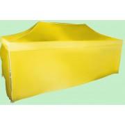 Gyorsan összecsukható sátor 3x6m - alumínium, Sárga, 4 oldalfal