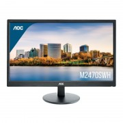 MONITOR LED MULTIMEDIA AOC M2470SWH - 23'/58.42CM - MVA - 1920x1080 FHD - 16:9 - 250CD/M2 - 20M:1 - 5MS - VGA - HDMI - VESA 100X100