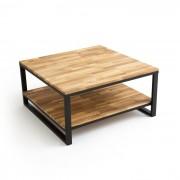 Vierkante salontafel met dubbel tafelblad in eikenhout HIBA