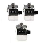 Buy 2 Get 1 Free 4 Digits Hand Held Tally Counter Numbers Clicker For Exercise Etc.