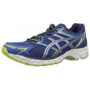 ASICS Men's Gel-Equation 7 Blue, Silver and Flash Yellow Mesh Running Shoes - 8 UK