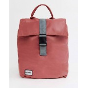 Mi-Pac nylon fold top backpack in rose pink with reflective logo - female - Pink - Size: No Size