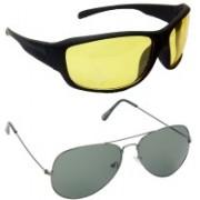 Hrinkar Sports Sunglasses(Yellow, Green)