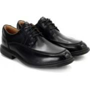 Clarks Un Rage Black Leather lace up For Men(Black)