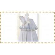 Erbesi Italia - Set baldachin pentru cosuletul de dormit FARFALLA alb-natural