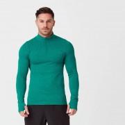 Myprotein Męska Bezszwowa bluza z zamkiem 1/4 - XL - Dark Green