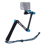 Smatree X1 Aluminium Foldable Multi-functional Pole/Monopod 3-Way Ajustable Selfie Stick for GoPro Hero Fusion 7/6/5/4/3+/3/Session/GOPRO HERO (2018),Logitech Webcam C925e C922x C922 C930e,Action Came
