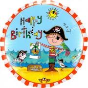 Rachel Ellen - Birthday Pirate Foil Round 18in/45cm