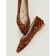 Boden Leopard Julia Flache Pumps mit spitzer Zehenpartie Damen Boden, 40½, Brown