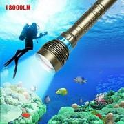XuBa 18000Lm 7 Xml-T6 Led Strong Light Diving Flashlight Torch Professional Underwater Waterproof Light Tactical Lantern