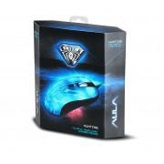 Геймърска мишка AULA Hunting Gaming , 4 Програмируеми бутона, 7 вида подсветка, Оптичен сензор с подобрена точност, USB,Жична, Бял
