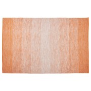 Tapis design 'WASH' 160x230 cm orange en coton