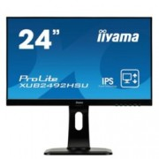 "Монитор Iiyama ProLite XUB2492HSU-B1, 23.8"" (60.45 cm) IPS панел, Full HD, 5ms, 5 000 000:1, 250 cd/m2, DisplayPort, HDMI, VGA, USB"