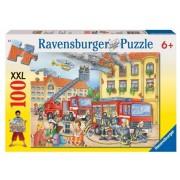 Puzzle departamentul pompierilor, 100 piese Ravensburger