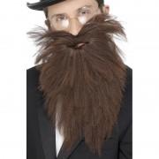 Geen Bruine lange baard met snor