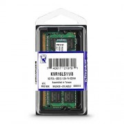 Kingston kvr16ls11 geheugen (1600mhz, fbga) DDR3-RAM 8gb