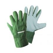 Manusi de gradina cu puncte, marime universala, 1 pereche, verde