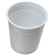 Pahare albe din plastic C200 100/set
