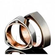 Exkluzivní snubní prsteny, červeno bílé zlato, 436-510-511 - luxusní snubáky 1ks