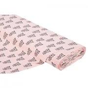 """Elastik-Jersey """"Bär"""", rosa-melange"""