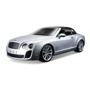 Bburago 1:18 Bentley Continental Supersport Convertible, Silver
