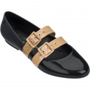 Flats de Mujer Vivienne Westwood Anglomania + Melissa Doll Ad - Negro con Beige