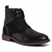 Ботуши TOMMY HILFIGER - Elevated Tall Leather Mix Boot FM0FM02456 Black 990