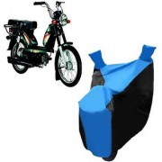 Intenzo Premium Blue and Black Two Wheeler Cover for TVS Heavy Duty Super XL