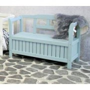 SenS-Line Pinokkio 2-zits houten koffer tuinbank blauw