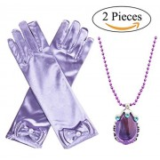 Princess Sofia Amulet Accessories The First Magical Jewels Cosplay Dress up Costume Necklace and Gloves