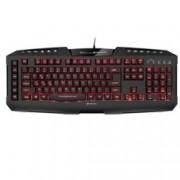 Клавиатура Sharkoon Skiller Pro+, мултимедийни бутони, подсветка, гейминг, черна, USB