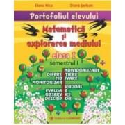 Portofoliul elevului Matematica si explorarea mediului cls 1 semestrul I - Elena Nica