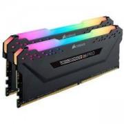 Памет Corsair DDR4, 3000MHz 16GB (2 x 8GB) 288 DIMM, Unbuffered, 15-17-17-35, Vengeance RGB PRO black Heat spreader,RGB LED, 1.35V, XMP 2.0. CMW16GX4M