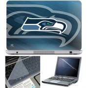 Finearts Laptop Skin - Vector Eagle Face With Screen Guard And Key Protector - Size 15.6 Inch