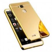 Husa Bumper Aluminiu Iberry Mirror Auriu Pentru Huawei Y3II