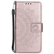 Husa Huawei P Smart / Enjoy 7S Flip Cu Stand Roz Aurie