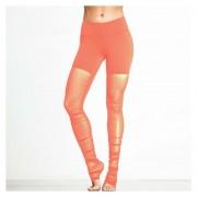 Pantalones De Yoga Para Mujeres Fitness Gym Leggings Running - Naranja