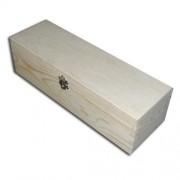 CreativeHobby Drewniane pudełko na butelkę z zapięciem