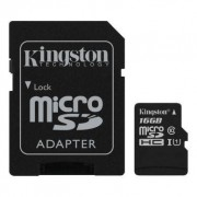 Kingston Hukommelseskort 16GB,microSDHC,SDHC-adapter,Class10 KING-1932 Replace: N/A