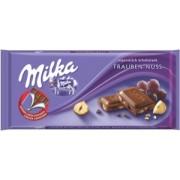 Milka Ciocolata Lapte cu Alune si Stafide 100g