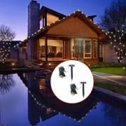 vidaXL LED соларни гирлянди, 2 бр, топла бяла светлина