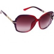 Eyeland Over-sized Sunglasses(Red, Violet)