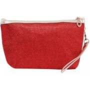 Bagaholics Multipurpose Cosmetic Makeup Multi utility Pouch Travel Toiletry Kit Pouch(Red)