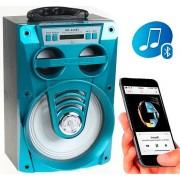 Hordozható hangszóró Bluetooth multimédia lejátszó akkumulátorral LED hangszóróval Mp3,FM-Rádió, 3,5 jack, USB, Micro SD kártya - MS-165BT