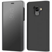 Clear View Stand Cover voor de Samsung Galaxy A8 Plus (2018) – Zwart
