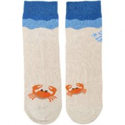 Soxytoes Oh Crab ! Beige Cotton Ankle Length Pack of 1 Pair Animal Print Unisex Casual Socks (STS0148)
