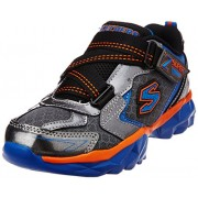 Skechers Boy's Hypersonic Gunmetal and Royal Synthetic Sports Shoes - 13 kids UK/India(32 EU)(1 US)